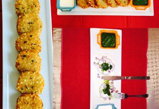 Pan-fried Tapioca pearls patties (Sabudana tikki)