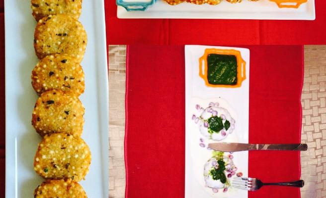 Pan-fried Tapioca pearls patties (Sabudana tikki)