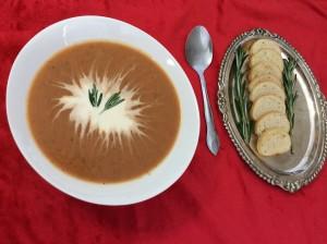 Carrot-Rosemary soup