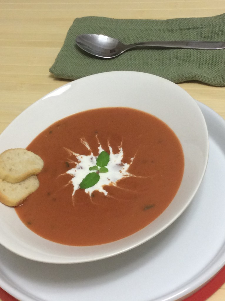 Creamy Tomato Basil Bisque by Ginger-it-Up