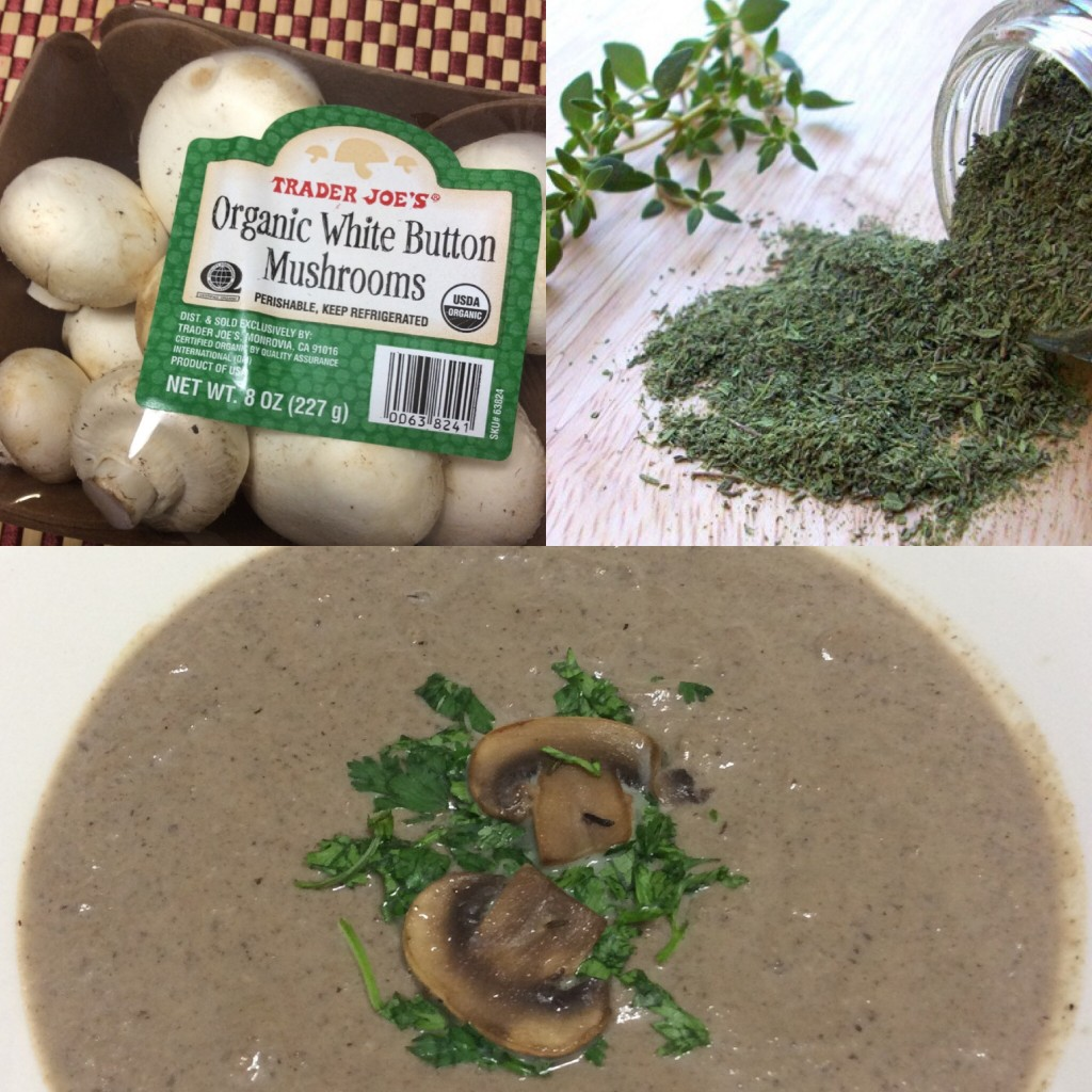 Cream of Mushroom Soup with Thyme by Ginger-it-Up