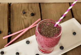 The Secret slimming-Diet 'Trio' is out: Chia, Bluberry & Green Tea Smoothie
