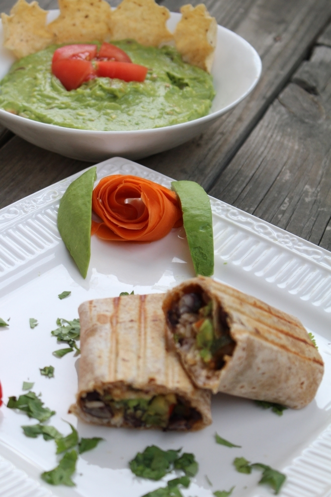 Guacamole Dip and Mexican Burrito by Gingeritup