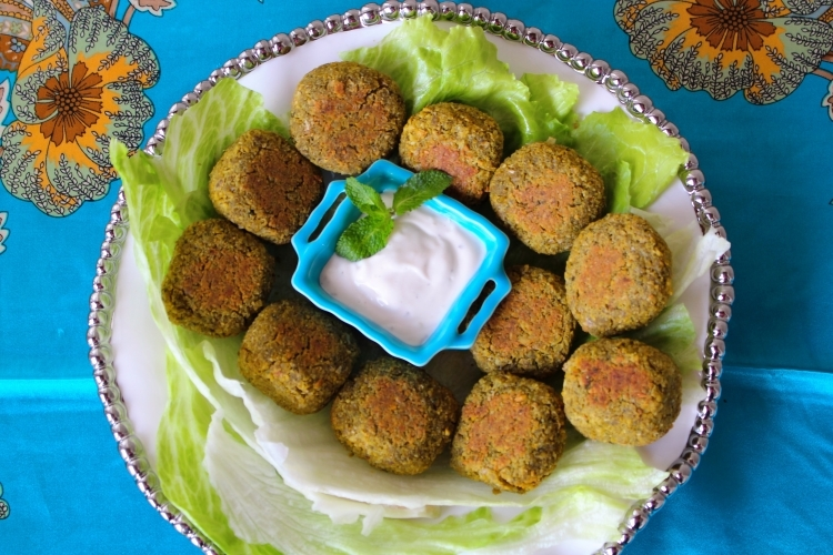 Baked Falafel : A tribute to Egypt's famous Street Gourmet with a personalized Healthy Twist