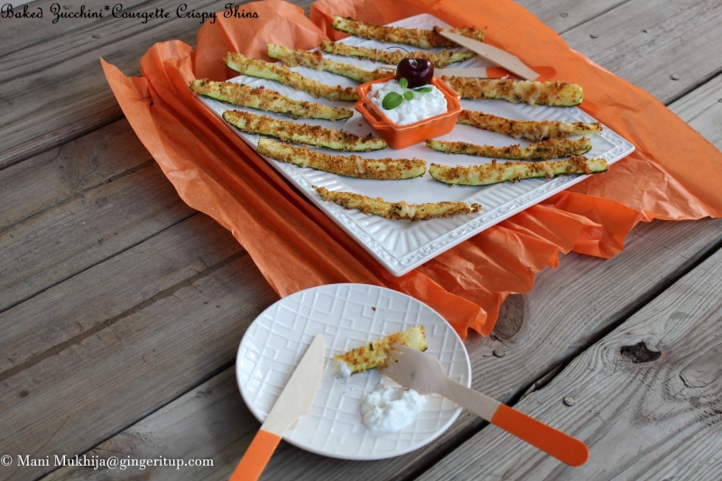 Baked Zucchini* Courgette Crispy thins, Bites,fries