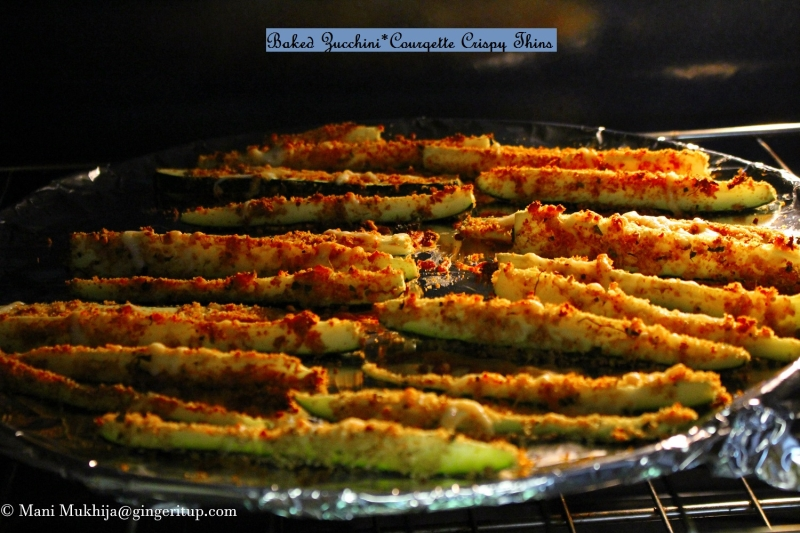 Baked Zucchini* Courgette Crispy Bites,fries
