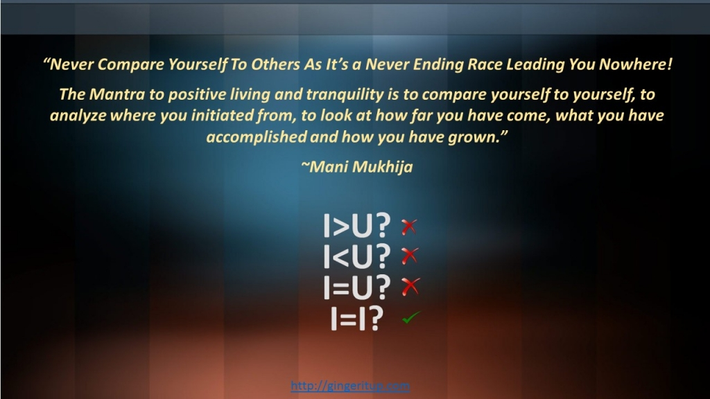 Inspirational quotes on comparison,Never compare yourself with others