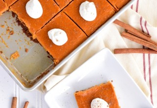 Maple & Ginger Infused Pumpkin Slab Pie