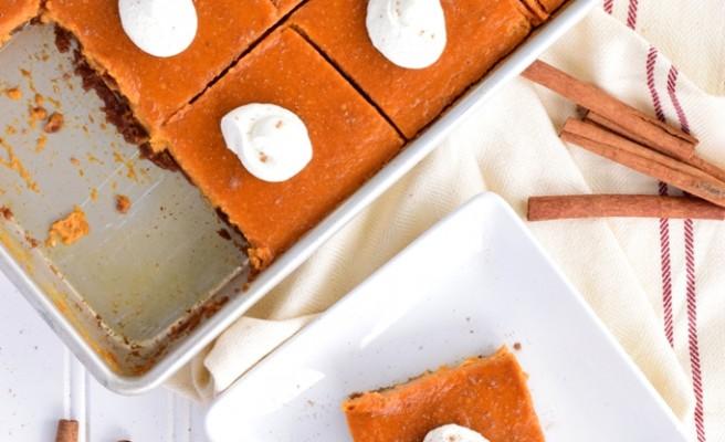 Maple & Ginger Infused Pumpkin Slab Pie