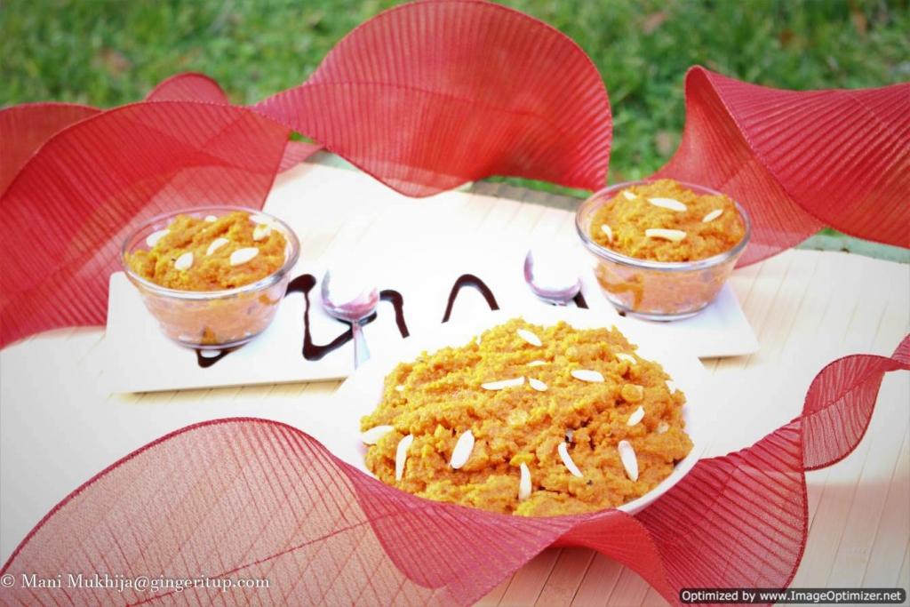 Gajar Ka Halwa(or Gajrela/Carrot pudding)