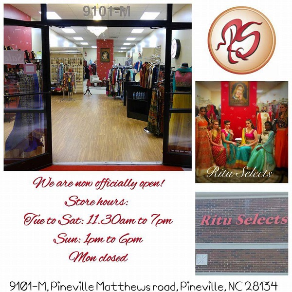 Ritu Selects-largest Indian ethnic showroom in the Carolinas