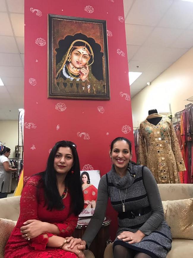 "Mani Mukhija with Ritu Bhat of ""Ritu Selects"""
