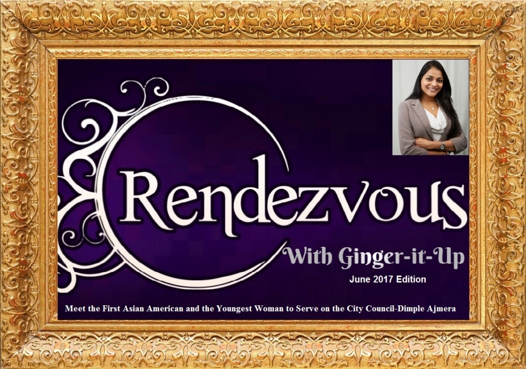 CouncilWoman Dimple Ajmera in Golden Frame with Ginger-it-Up
