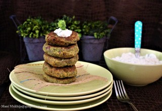 Broccoli Spinach Fritters -A Healthy Option for Your Kids SnackTime