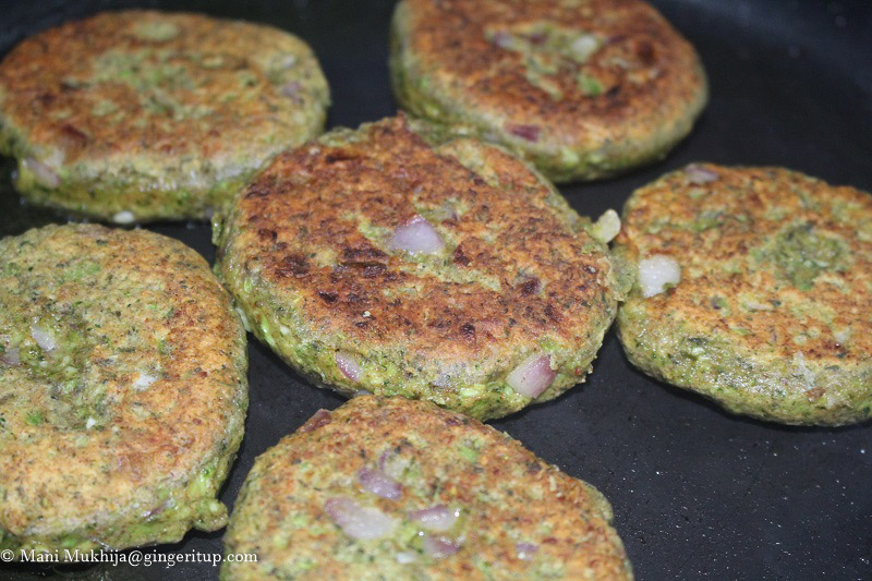 Broccoli Spinach Fritters