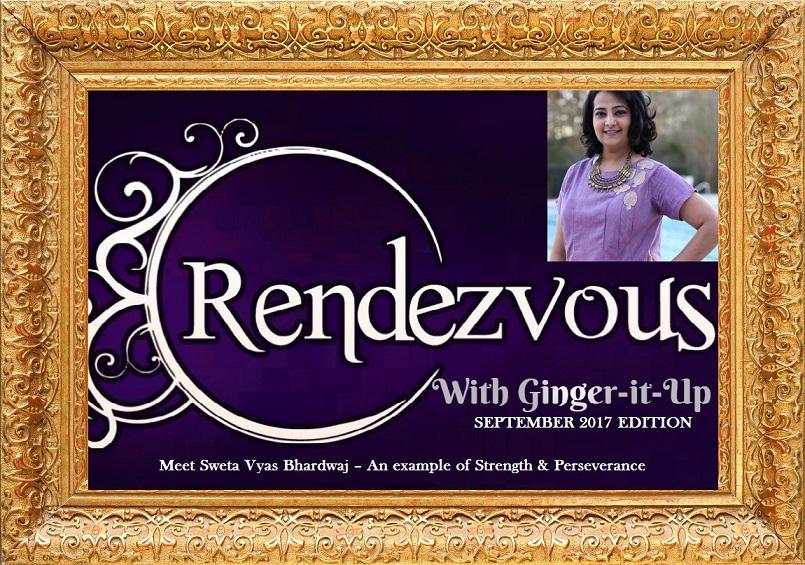 Sweta Vyas Bhardwaj in Ginger-it-Up's Golden Frame