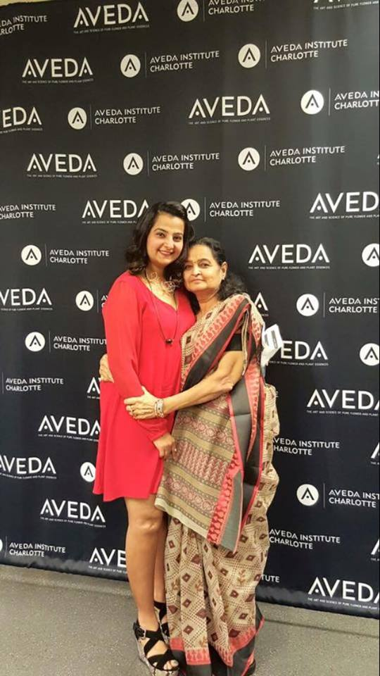 Sweta with her Mom