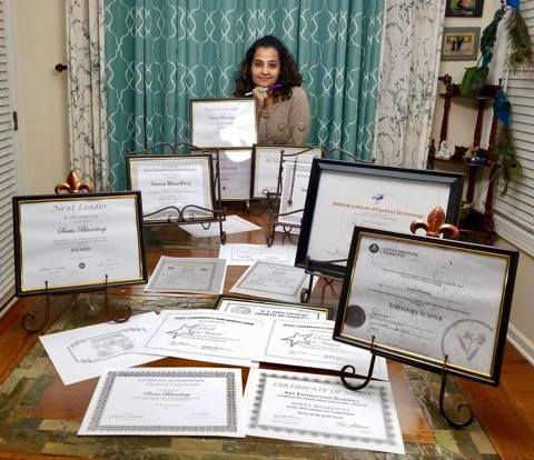 Undying passion for education and collecting crtificates-Sweta Vyas Bhardwaj