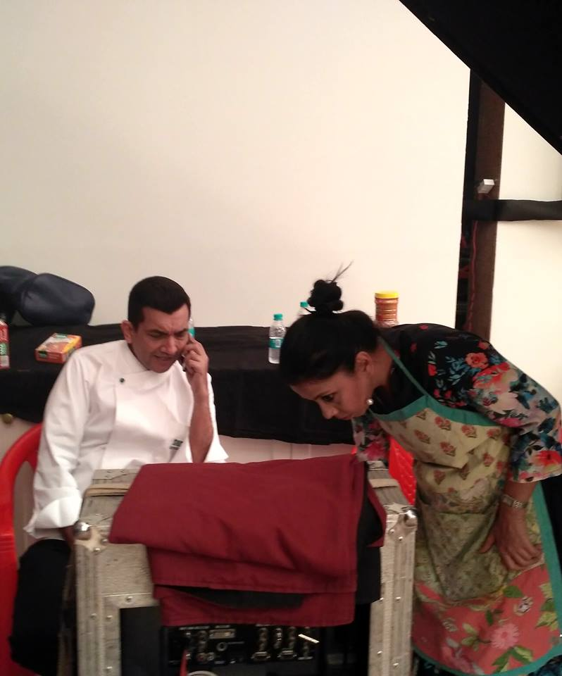 Chef Payal Gupta with Sanjeev kapoor