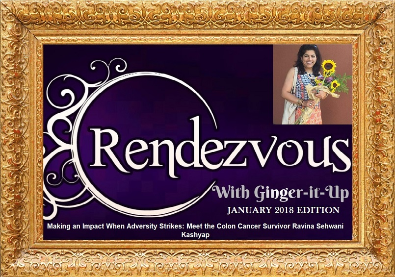 Ravina in Rendezvous Golden Frame with Ginger-it-Up