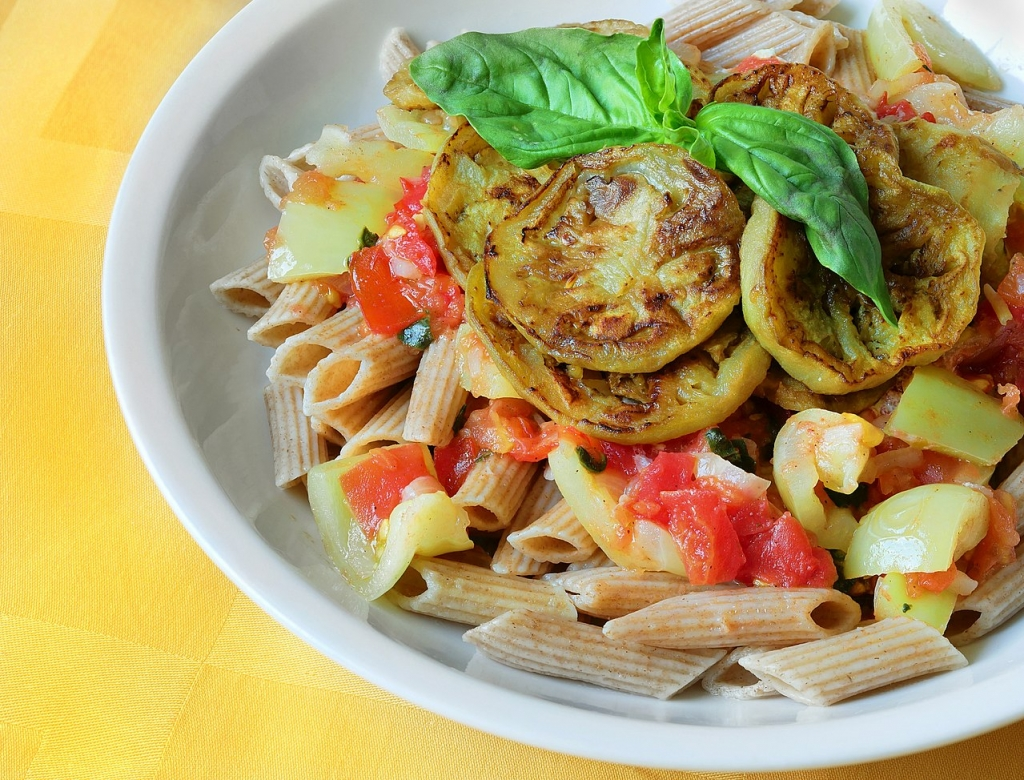 Grilled-Eggplant-Tomato-Pasta